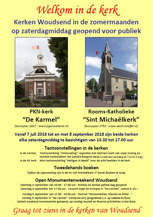 Affiche open kerk Woudsend 2018