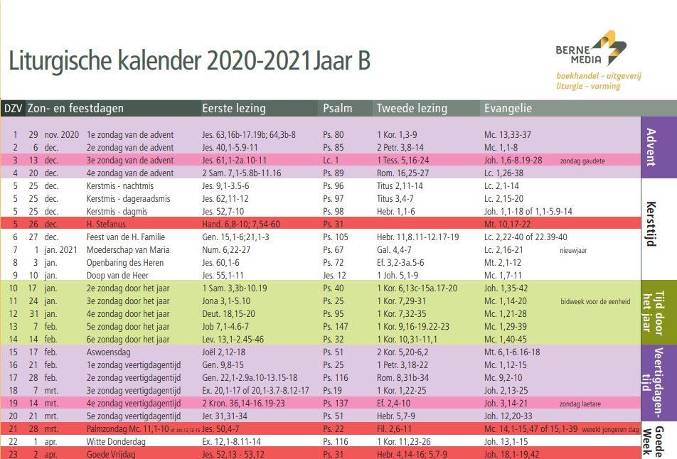 Liturgisch kalender 2021