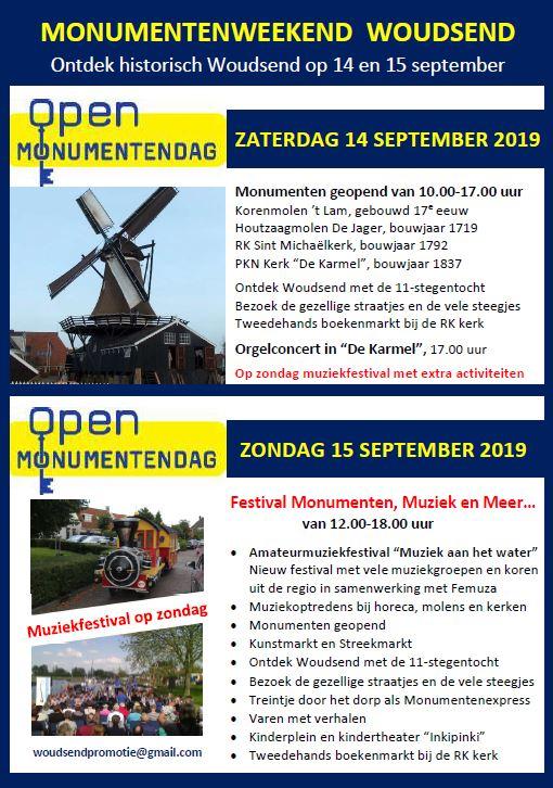 Poster Monumentenweekend 2019 Woudsend